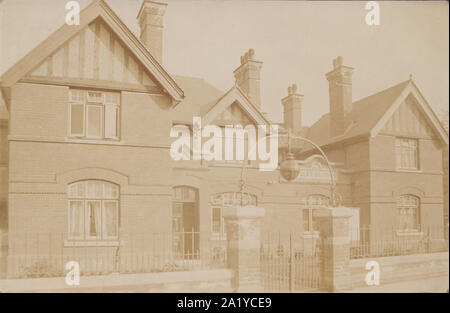 Vintage 1906 Photographic Postcard Showing Faversham Police Station, Kent, England, UK - Stock Photo