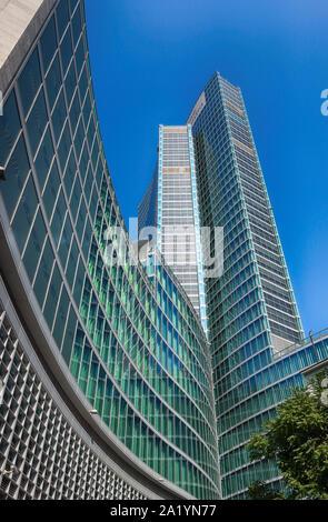 Milan, Italy - May 12, 2018: View of the 'Palazzo della Regione', public administrative Headquarters for the Italian Lombardy region in Milan, Lombard - Stock Photo