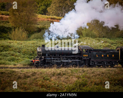 London and North Eastern Railway (LNER) Thompson Class B1 No. 1264, (later British Railways No. 61264, and Departmental No. 29) on the North Yorkshire - Stock Photo