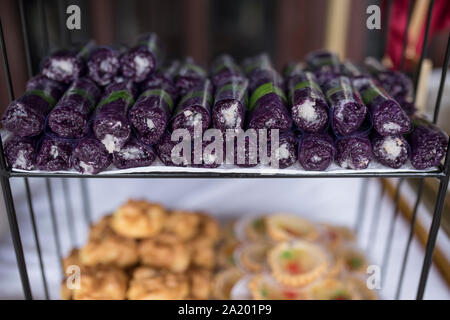 Indonesian wet cakes from glutinous rice - Stock Photo