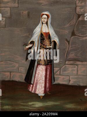 Woman from the Island of Mykonos, Jean Baptiste Vanmour (workshop of), 1700 - 1737.jpg - 2A209M4 - Stock Photo