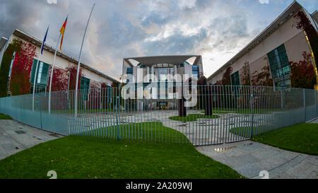 Berlin, Germany - September 28, 2019 - The Bundeskanzleramt (Federal Chancellery) of Germany in Berlin - Stock Photo