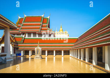 Golden Mountain of Wat Saket, Bangkok, Thailand - Stock Photo