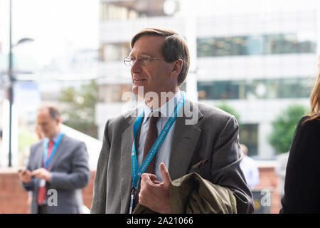 Manchester, UK. 30th Sept, 2019. Dominic Grieve QC, MP for Beaconsfield, at the Conservative Party Conference at the Manchester Central Convention Complex, Manchester on Monday 30 September 2019 (Credit: P Scaasi | MI News) Credit: MI News & Sport /Alamy Live News - Stock Photo