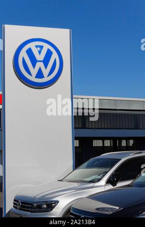 Branch of Volkswagen VW in Berlin - Stock Photo