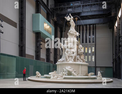 Tate Modern, London, UK. 30th September 2019. A monumental new sculptural work opens within the iconic surrounds of Tate Modern's Turbine Hall, the spectacular installation devised by American artist Kara Walker for the 2019 Hyundai Commission. Credit: Malcolm Park/Alamy Live News. - Stock Photo