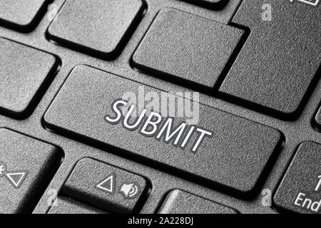 submit button on pc keyboard - Stock Photo
