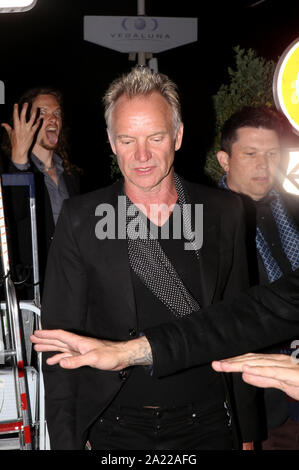 Sting arrives at a night party during the 71st Cannes Film Festival 2018. - Stock Photo