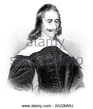 Archibald Campbell portrait, 1st Marquess of Argyll, 8th Earl of Argyll, chief of Clan Campbell, 1607 – 1661 was a Scottish nobleman, politician, and peer, vintage illustration from 1850 - Stock Photo