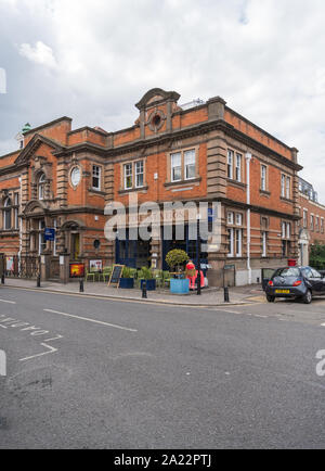 The Old Court Art Space, formerly the magistrate's court and police and fire station, St. Leonards Road, Windsor, Berkshire, England, UK - Stock Photo
