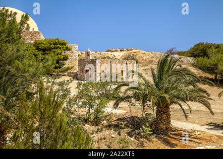 The old Venetian fortress of Fortezza. Greece. Crete. Rethymno - Stock Photo