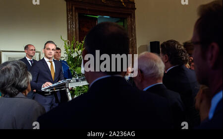 Prague, Czech Republic. 30th Sep, 2019. Heiko Maas (SPD), Foreign Minister, will give a speech at the German Embassy in Prague, Palais Lobkowitz, during a ceremony marking German Unity Day. Credit: Gregor Fischer/dpa/Alamy Live News - Stock Photo