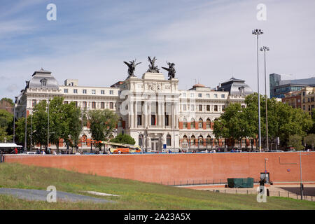 Ministry of Agriculture, Fisheries and Food  building in Madrid, Spain - Stock Photo
