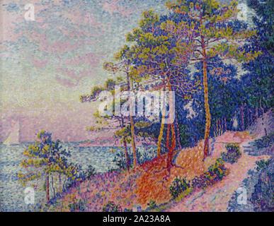 Paul Signac 1863 1935 - Le Sentier De La Douane 1905 - Stock Photo
