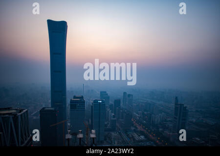 Beijing, China. 1st Oct, 2019. Photo taken on Oct. 1, 2019 shows the morning scenery of Beijing, capital of China. Credit: Xiao Yijiu/Xinhua/Alamy Live News - Stock Photo