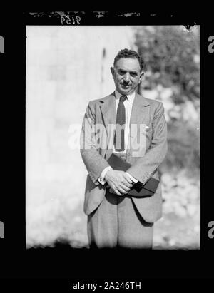 Palestine disturbances 1936. Nuri Pasha Es-Said, Foreign Minister of Iraq, arbitrator for the Palestine cause - Stock Photo