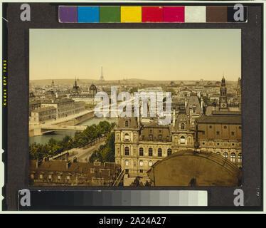Panorama of the seven bridges, Paris, France; - Stock Photo