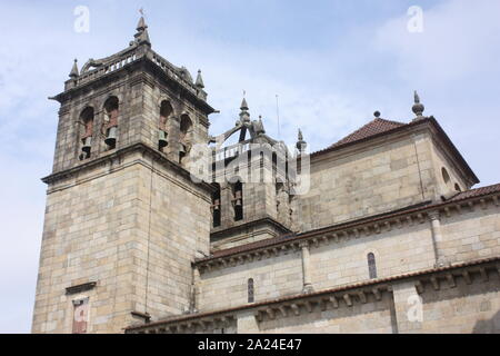 Portugal - The cathedral or Se in Braga - Stock Photo