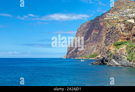 Southern coast of the island of Madeira near Camara de Lobos - Stock Photo