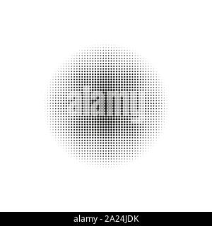 Halftone, circles, dots, transition pattern. Vector illustration. - Stock Photo