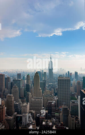 New York City, USA - June 10, 2010: View of  the Manhattan skyline in New Your City, USA. - Stock Photo
