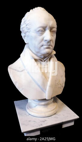Bust of Johann von Goethe (1749 – 1832), German writer and statesman. Sculpted in 1823 by Johann Gottfried Schadow (1764 – 1850); German Prussian sculptor. - Stock Photo