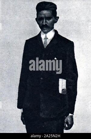Photograph of Mahatma Gandhi. Mohandas Karamchand Gandhi (1869-1948) an Indian activist