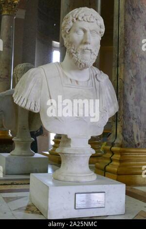 Marble bust of lucius aelius caesar (101-138) the father of emperor lucius verus - Stock Photo
