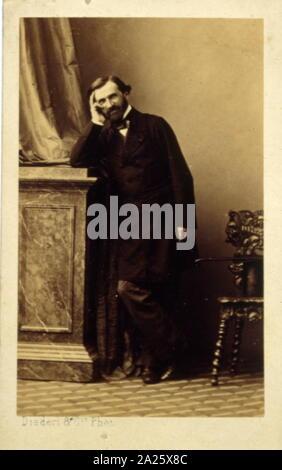 Photograph of Giuseppe Verdi (1813 – 1901); Italian opera composer Stock Photo
