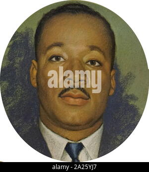 A funeral plate with a picture of Dr Martin Luther King Jr. Martin Luther King Jr. (1929-1968) an American Baptist minister and activist.