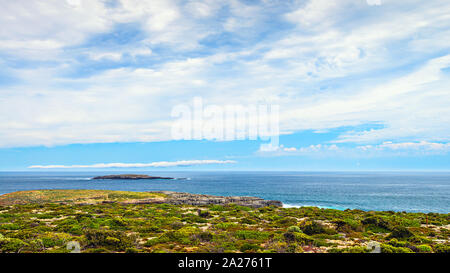 Fliders Chase park viewed towards Admirals Arch,  Kangaroo Island, South Australia - Stock Photo