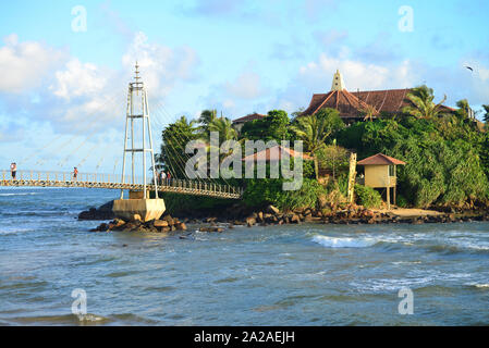 View at Paravi Duwa Temple, Matara, Sri Lanka, Asia - Stock Photo