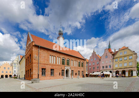 Olsztyn (ger.: Allenstein), Warmian-mazurian province, Poland. The old townhall on the Old Town Marketplace - Stock Photo
