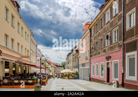 Olsztyn (ger.: Allenstein), Warmian-mazurian province, Poland. Prosta street in the Old Town district. - Stock Photo