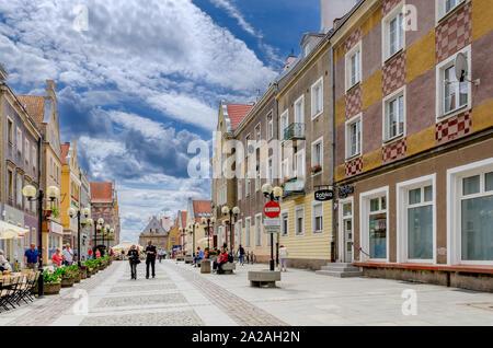 Olsztyn (ger.: Allenstein), Warmian-mazurian province, Poland. Staromiejska street. - Stock Photo