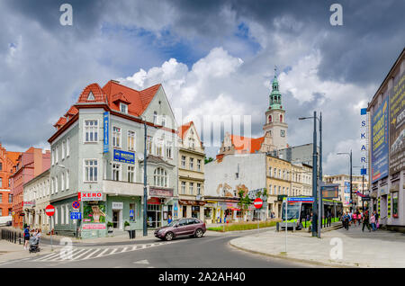 Olsztyn (ger.: Allenstein), Warmian-mazurian province, Poland. Jednosci Slowianskiej plaza. - Stock Photo