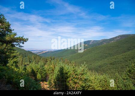 Landscape. Sierra de Guadarrama National Park, Segovia province, Castilla Leon, Spain. - Stock Photo