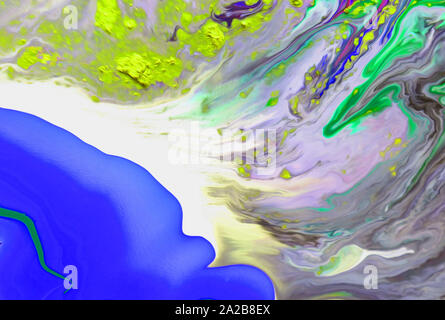 Art texture. Pictorial artwork. Creative modern wallpaper. Watercolor background. Paint splashes on paper. - Stock Photo
