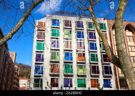 Hotel Hesperia Bilbao, Bizkaia, Basque Country, Spain, Europe - Stock Photo