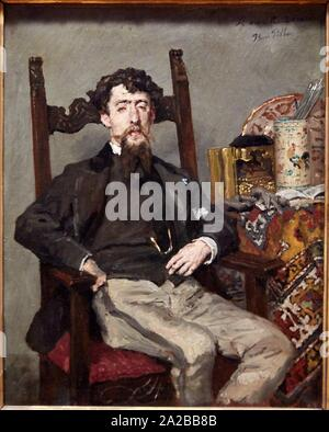 '''Portrait d'Edouardo Zamacois Y Zabala'', 1870, Henri Pille, Petit Palais Musée des Beaux Arts de la Ville de Paris, France, Europe - Stock Photo