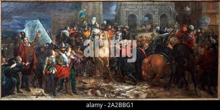 '''L'Entrée d'Henri IV dans la ville de Paris, en 1594'', 1817, François Gérard, Petit Palais Musée des Beaux Arts de la Ville de Paris, France, - Stock Photo