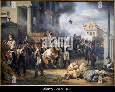 '''La barrière de Clichy. Défense de Paris, le 30 mars 1814'', 1820, Horace Vernet, Petit Palais Musée des Beaux Arts de la Ville de Paris, France, - Stock Photo