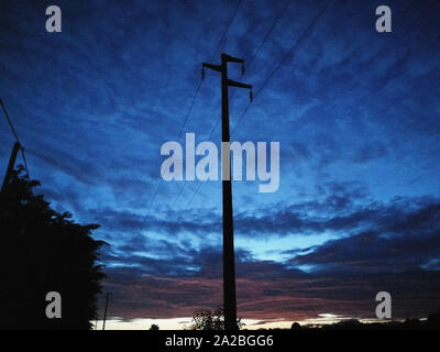 Italy, Casorezzo, sunset - Stock Photo