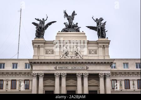 Palace of Fomento - Ministry of Agriculture, Fisheries and Food building in Madrid, Spain. - Stock Photo