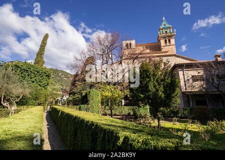 jardines de la cartuja de Valldemosa, la Cartoixa de Valldemossa, Mallorca, Balearic islands, spain. - Stock Photo