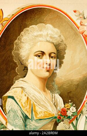 Elisabeth Philippe Marie Helene de France. Born 3rd May 1764. Died 10th May 1794. Daughter of Louis XVI. Antique illustration of 1897. - Stock Photo