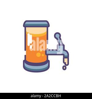 barrel of beer in white background vector illustration design - Stock Photo