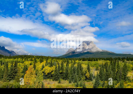Crowsnest Mountain, Canadian Rockies, Southwest Alberta, Canada - Stock Photo