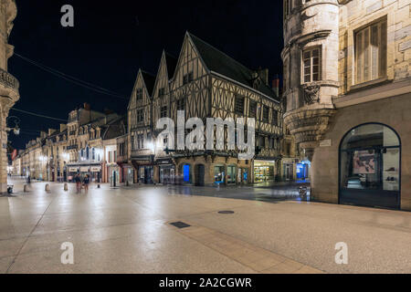 House Of Three Faces, Dijon, France. - Stock Photo