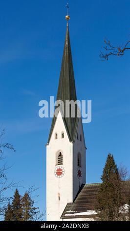 Oberstdorf, Kirchturm - Stock Photo